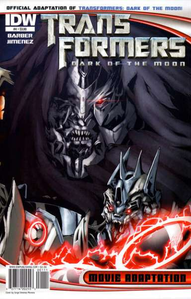 Transformers Dark of the Moon Movie Adaptation #4 comic books - cover scans photos Transformers Dark of the Moon Movie Adaptation #4 comic books - covers, picture gallery