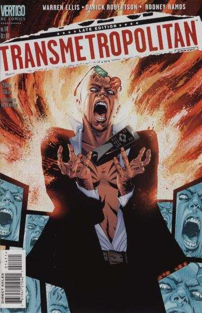 Transmetropolitan #14 comic books - cover scans photos Transmetropolitan #14 comic books - covers, picture gallery