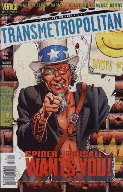 Transmetropolitan #18 comic books - cover scans photos Transmetropolitan #18 comic books - covers, picture gallery