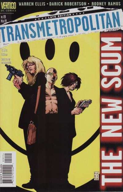 Transmetropolitan #19 comic books - cover scans photos Transmetropolitan #19 comic books - covers, picture gallery