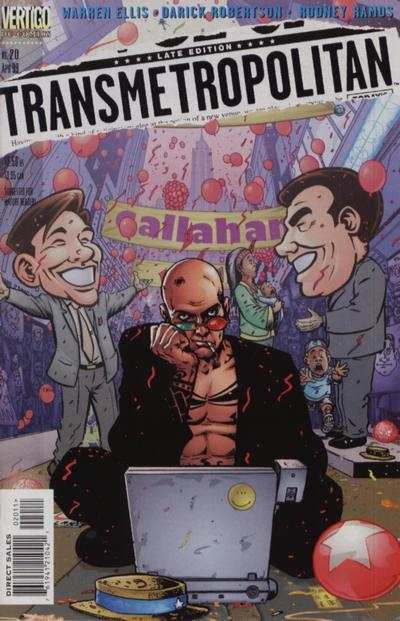 Transmetropolitan #20 comic books - cover scans photos Transmetropolitan #20 comic books - covers, picture gallery
