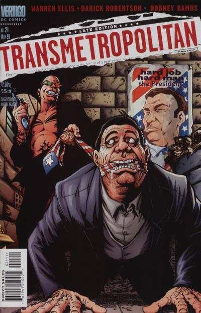 Transmetropolitan #21 comic books - cover scans photos Transmetropolitan #21 comic books - covers, picture gallery