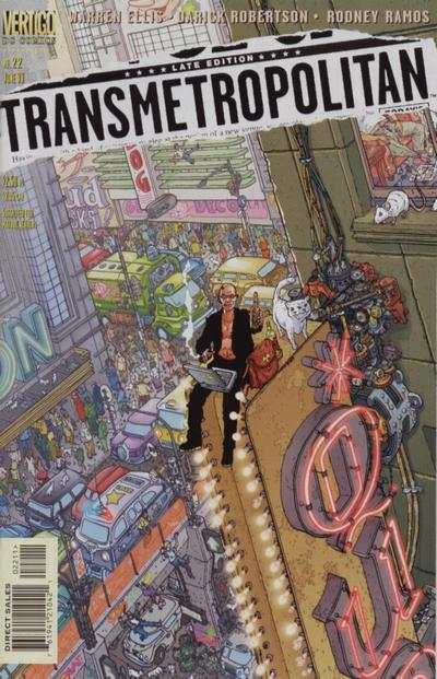 Transmetropolitan #22 comic books - cover scans photos Transmetropolitan #22 comic books - covers, picture gallery