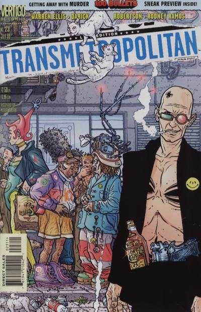 Transmetropolitan #23 comic books - cover scans photos Transmetropolitan #23 comic books - covers, picture gallery