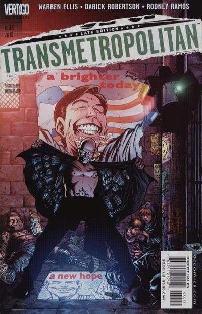 Transmetropolitan #34 comic books - cover scans photos Transmetropolitan #34 comic books - covers, picture gallery