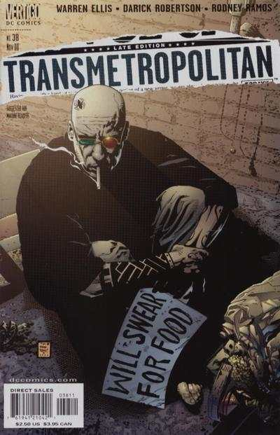 Transmetropolitan #38 comic books - cover scans photos Transmetropolitan #38 comic books - covers, picture gallery