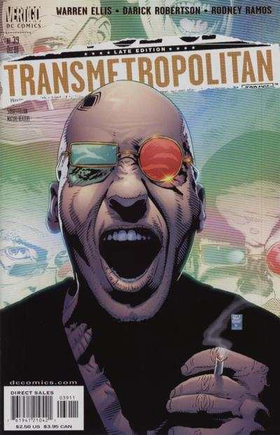 Transmetropolitan #39 comic books - cover scans photos Transmetropolitan #39 comic books - covers, picture gallery