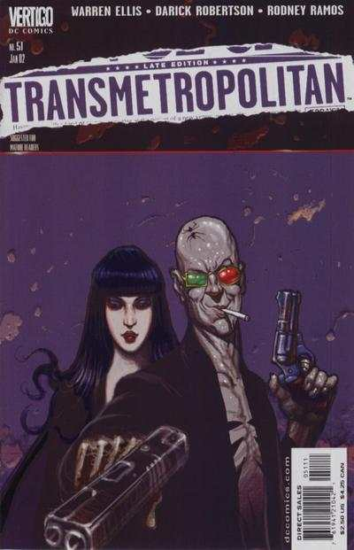 Transmetropolitan #51 comic books - cover scans photos Transmetropolitan #51 comic books - covers, picture gallery