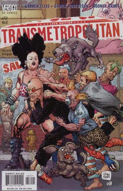 Transmetropolitan #52 comic books - cover scans photos Transmetropolitan #52 comic books - covers, picture gallery