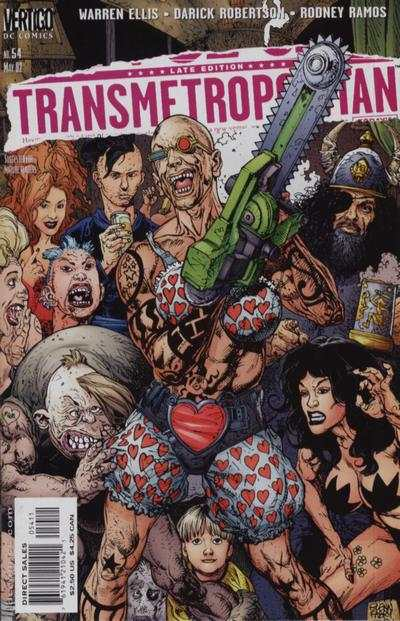 Transmetropolitan #54 comic books - cover scans photos Transmetropolitan #54 comic books - covers, picture gallery