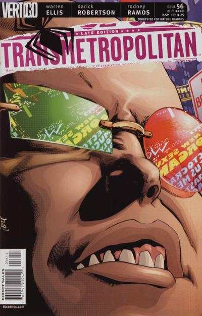 Transmetropolitan #56 comic books - cover scans photos Transmetropolitan #56 comic books - covers, picture gallery