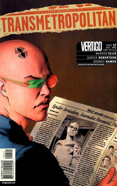 Transmetropolitan #57 comic books - cover scans photos Transmetropolitan #57 comic books - covers, picture gallery