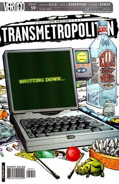 Transmetropolitan #59 Comic Books - Covers, Scans, Photos  in Transmetropolitan Comic Books - Covers, Scans, Gallery