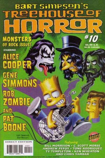 Treehouse of Horror #10 Comic Books - Covers, Scans, Photos  in Treehouse of Horror Comic Books - Covers, Scans, Gallery