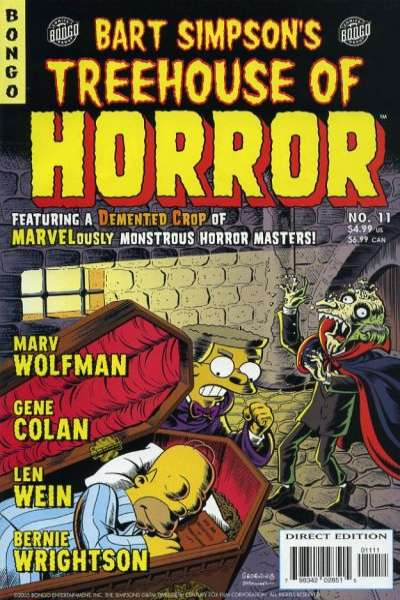 Treehouse of Horror #11 Comic Books - Covers, Scans, Photos  in Treehouse of Horror Comic Books - Covers, Scans, Gallery