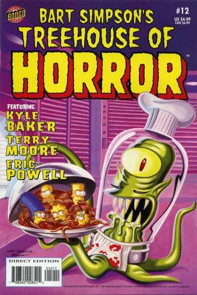 Treehouse of Horror #12 Comic Books - Covers, Scans, Photos  in Treehouse of Horror Comic Books - Covers, Scans, Gallery