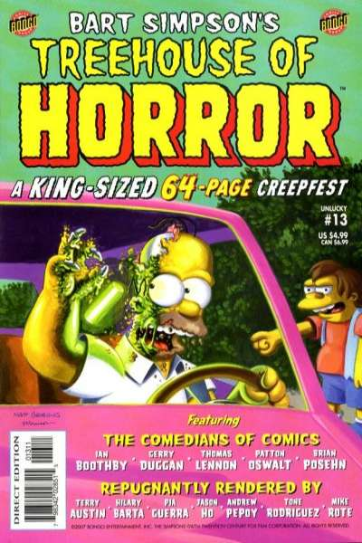 Treehouse of Horror #13 Comic Books - Covers, Scans, Photos  in Treehouse of Horror Comic Books - Covers, Scans, Gallery