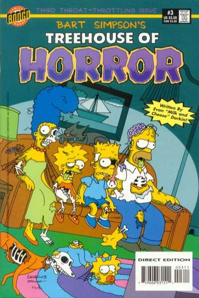 Treehouse of Horror #3 Comic Books - Covers, Scans, Photos  in Treehouse of Horror Comic Books - Covers, Scans, Gallery