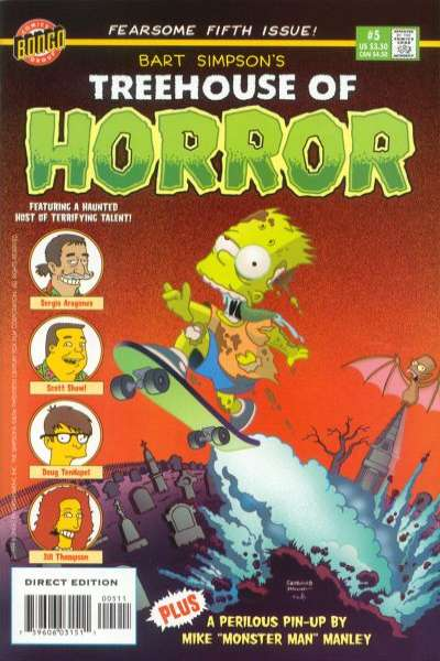 Treehouse of Horror #5 Comic Books - Covers, Scans, Photos  in Treehouse of Horror Comic Books - Covers, Scans, Gallery