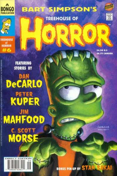 Treehouse of Horror #6 Comic Books - Covers, Scans, Photos  in Treehouse of Horror Comic Books - Covers, Scans, Gallery