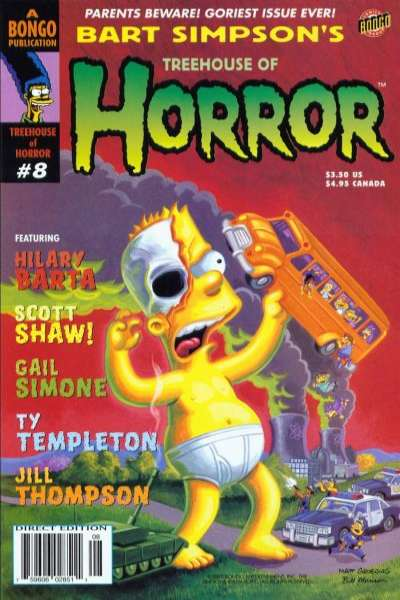 Treehouse of Horror #8 Comic Books - Covers, Scans, Photos  in Treehouse of Horror Comic Books - Covers, Scans, Gallery
