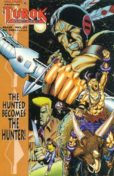 Turok: Dinosaur Hunter #21 Comic Books - Covers, Scans, Photos  in Turok: Dinosaur Hunter Comic Books - Covers, Scans, Gallery