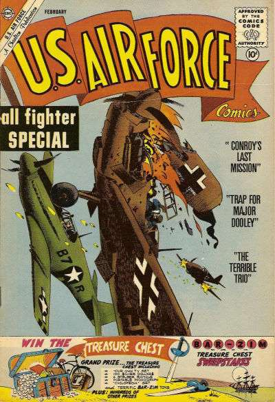 U.S. Air Force Comics #14 comic books - cover scans photos U.S. Air Force Comics #14 comic books - covers, picture gallery