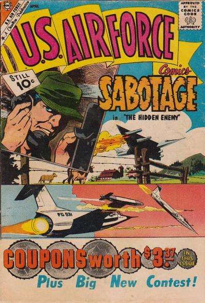 U.S. Air Force Comics #15 comic books - cover scans photos U.S. Air Force Comics #15 comic books - covers, picture gallery