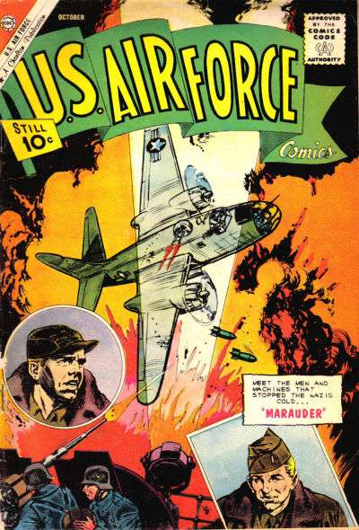 U.S. Air Force Comics #18 comic books - cover scans photos U.S. Air Force Comics #18 comic books - covers, picture gallery