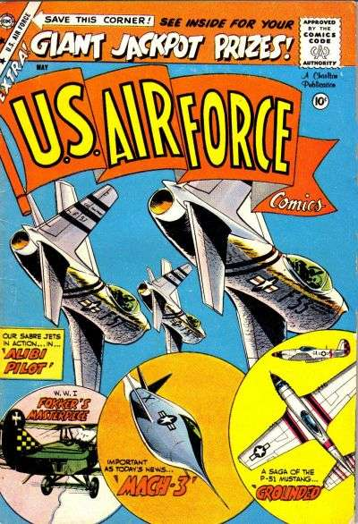 U.S. Air Force Comics #4 Comic Books - Covers, Scans, Photos  in U.S. Air Force Comics Comic Books - Covers, Scans, Gallery