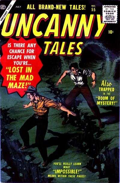 Uncanny Tales #55 Comic Books - Covers, Scans, Photos  in Uncanny Tales Comic Books - Covers, Scans, Gallery