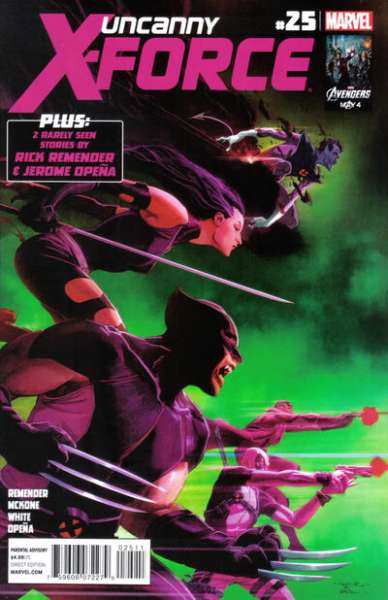 Uncanny X-Force #25 Comic Books - Covers, Scans, Photos  in Uncanny X-Force Comic Books - Covers, Scans, Gallery