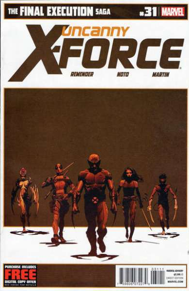 Uncanny X-Force #31 comic books - cover scans photos Uncanny X-Force #31 comic books - covers, picture gallery