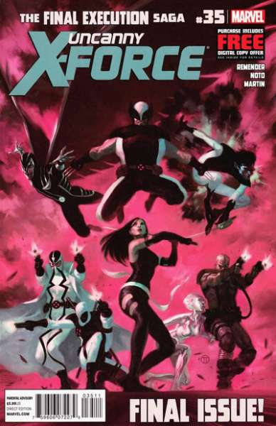 Uncanny X-Force #35 comic books - cover scans photos Uncanny X-Force #35 comic books - covers, picture gallery