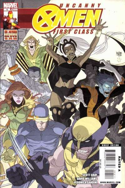 Uncanny X-Men: First Class #4 comic books - cover scans photos Uncanny X-Men: First Class #4 comic books - covers, picture gallery