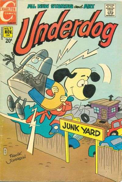 Underdog #9 Comic Books - Covers, Scans, Photos  in Underdog Comic Books - Covers, Scans, Gallery