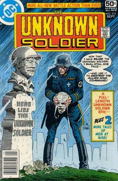 Unknown Soldier #219 comic books - cover scans photos Unknown Soldier #219 comic books - covers, picture gallery