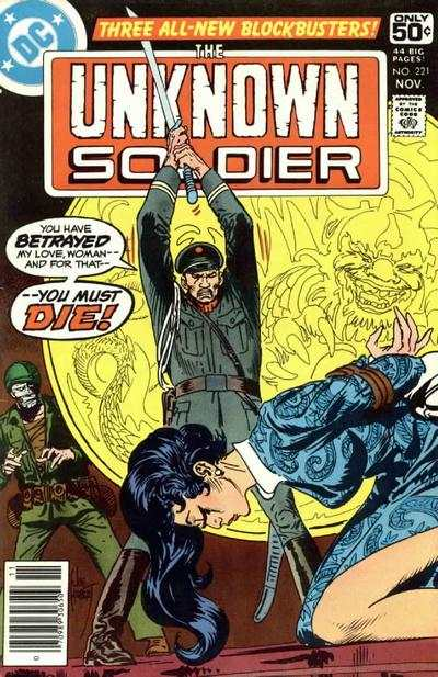 Unknown Soldier #221 comic books - cover scans photos Unknown Soldier #221 comic books - covers, picture gallery