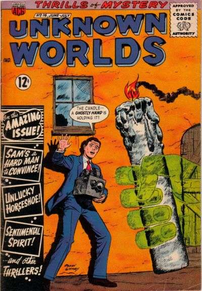 Unknown Worlds #16 Comic Books - Covers, Scans, Photos  in Unknown Worlds Comic Books - Covers, Scans, Gallery