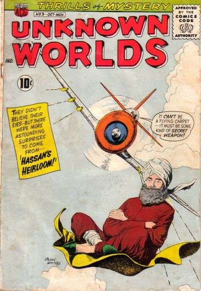 Unknown Worlds #3 Comic Books - Covers, Scans, Photos  in Unknown Worlds Comic Books - Covers, Scans, Gallery