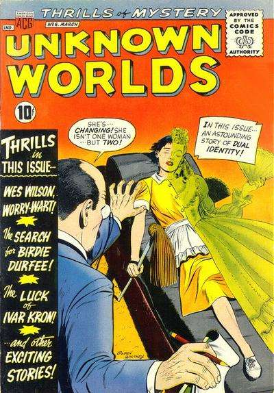 Unknown Worlds #6 Comic Books - Covers, Scans, Photos  in Unknown Worlds Comic Books - Covers, Scans, Gallery