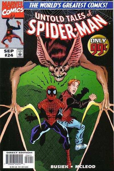 Untold Tales of Spider-Man #24 comic books - cover scans photos Untold Tales of Spider-Man #24 comic books - covers, picture gallery