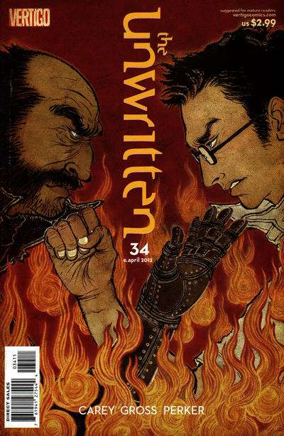 Unwritten #34 comic books for sale