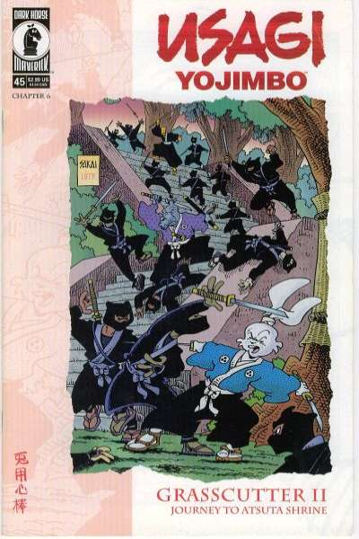 Usagi Yojimbo #45 Comic Books - Covers, Scans, Photos  in Usagi Yojimbo Comic Books - Covers, Scans, Gallery