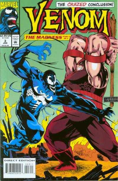 Venom: The Madness #3 comic books for sale