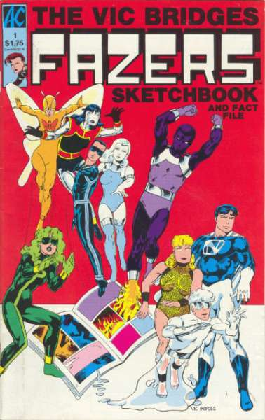 Vic Bridges Fazers Sketchbook #1 comic books - cover scans photos Vic Bridges Fazers Sketchbook #1 comic books - covers, picture gallery