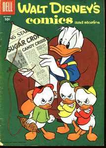 Walt Disney's Comics and Stories #193 comic books - cover scans photos Walt Disney's Comics and Stories #193 comic books - covers, picture gallery