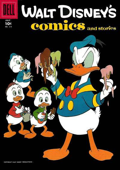 Walt Disney's Comics and Stories #214 comic books - cover scans photos Walt Disney's Comics and Stories #214 comic books - covers, picture gallery