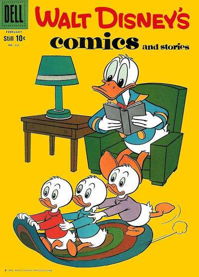 Walt Disney's Comics and Stories #221 comic books - cover scans photos Walt Disney's Comics and Stories #221 comic books - covers, picture gallery