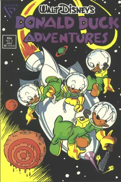 Walt Disney's Donald Duck Adventures #5 comic books - cover scans photos Walt Disney's Donald Duck Adventures #5 comic books - covers, picture gallery